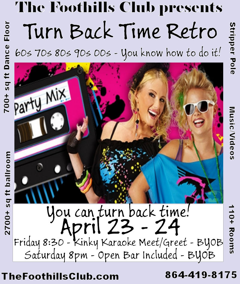 Anderson : April 24, 2021 - 8:00pm - Turn Back Time - 60s, 70s, 80s, 90s, 00s