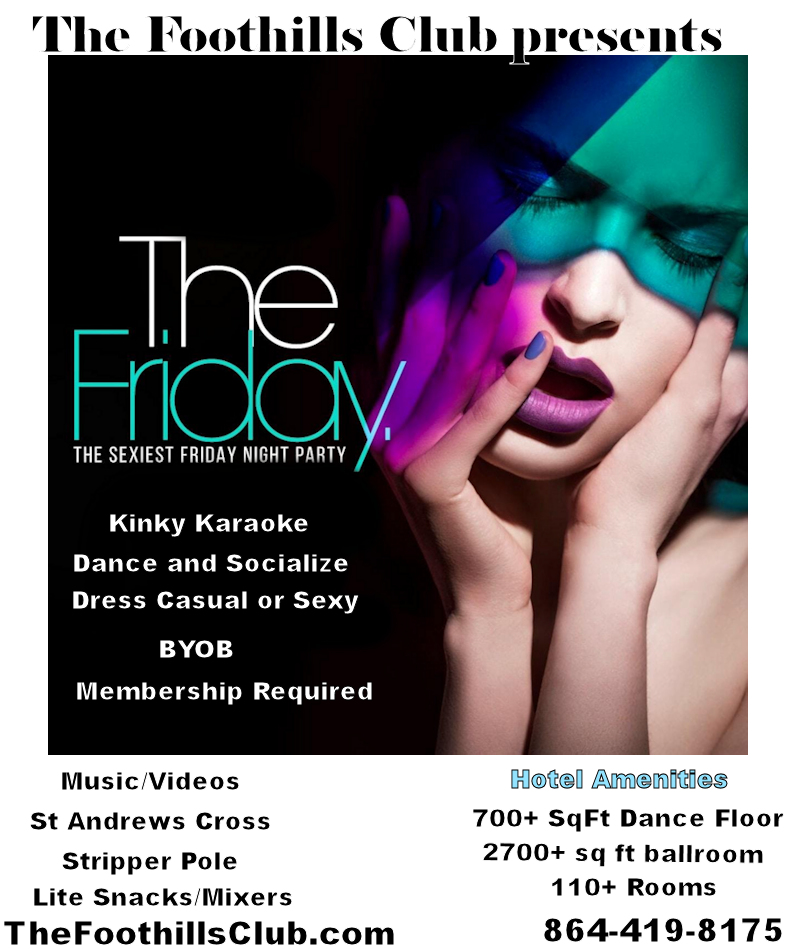 Anderson : March 13, 2020 - 8:30pm - Sexy Friday Night Dance and Karaoke
